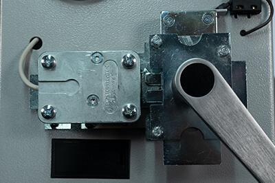 Elektronisches Zahlenschloss - Verrieglung entriegelt